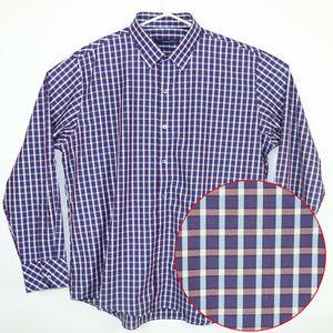 Zachary Prell XXL Purple Blue Speer Dress Shirt